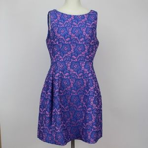 ALEXIA ADMOR Pink Blue Floral Dress